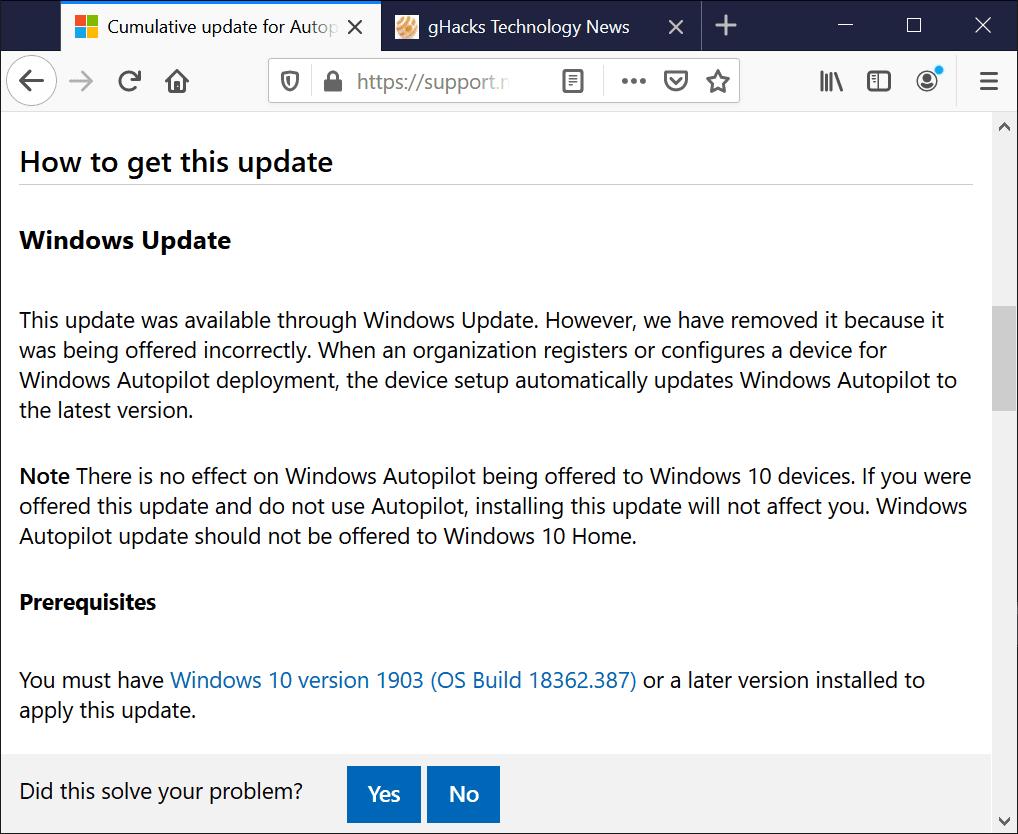 error de actualización de windows 10
