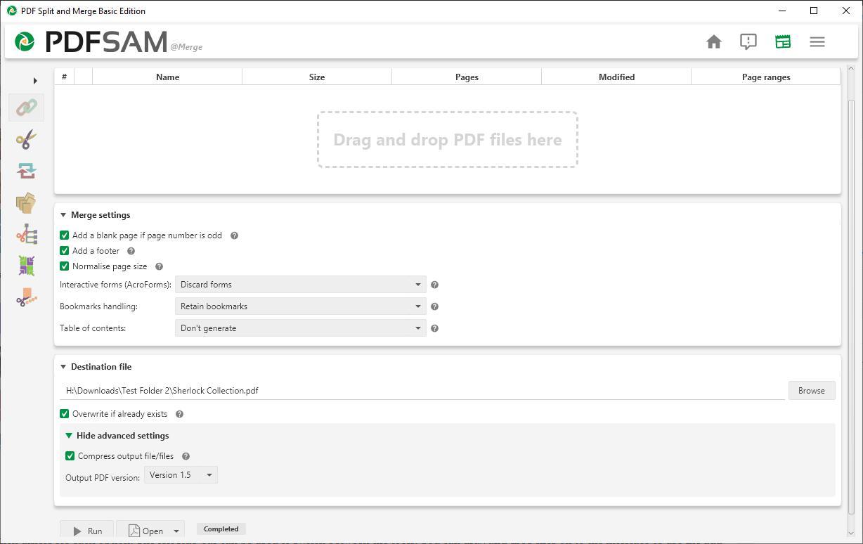 Dividir o fusionar PDFs con PDFsam Basic