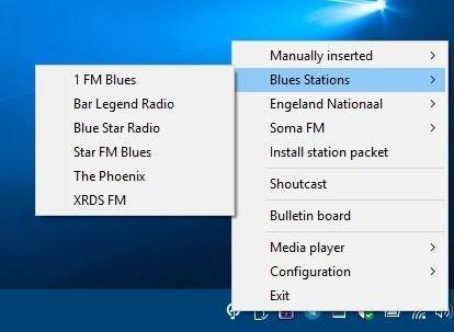Estaciones de radio de la bandeja