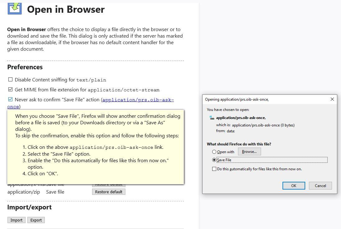 Abrir en las opciones del navegador