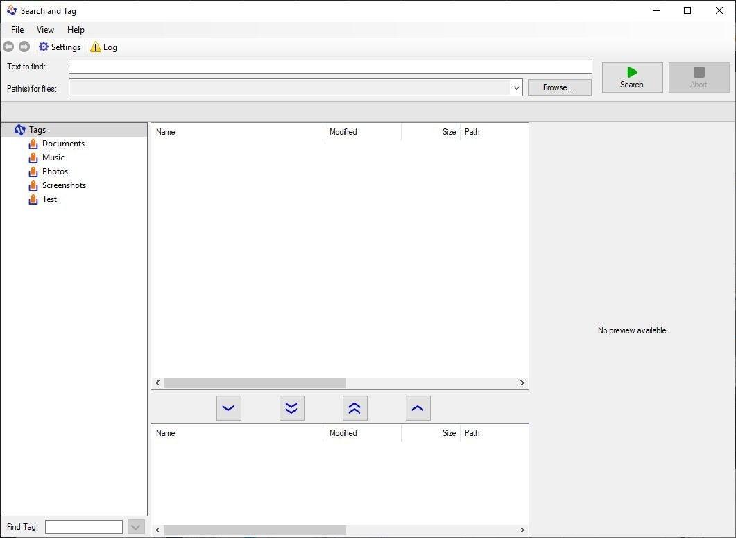 Tagging for Windows - interfaz de búsqueda y etiquetado