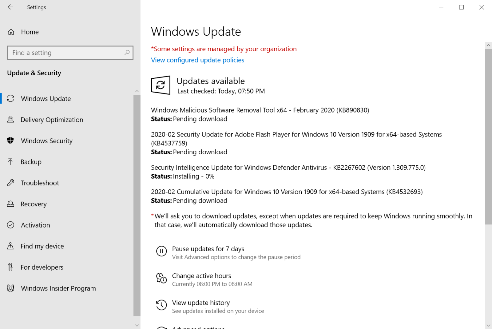 Microsoft Windows Security Updates February 2020 overview