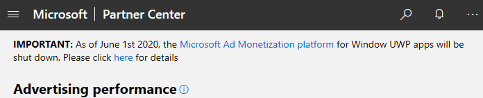 Another nail in the coffin: Microsoft ends its UWP monetization network