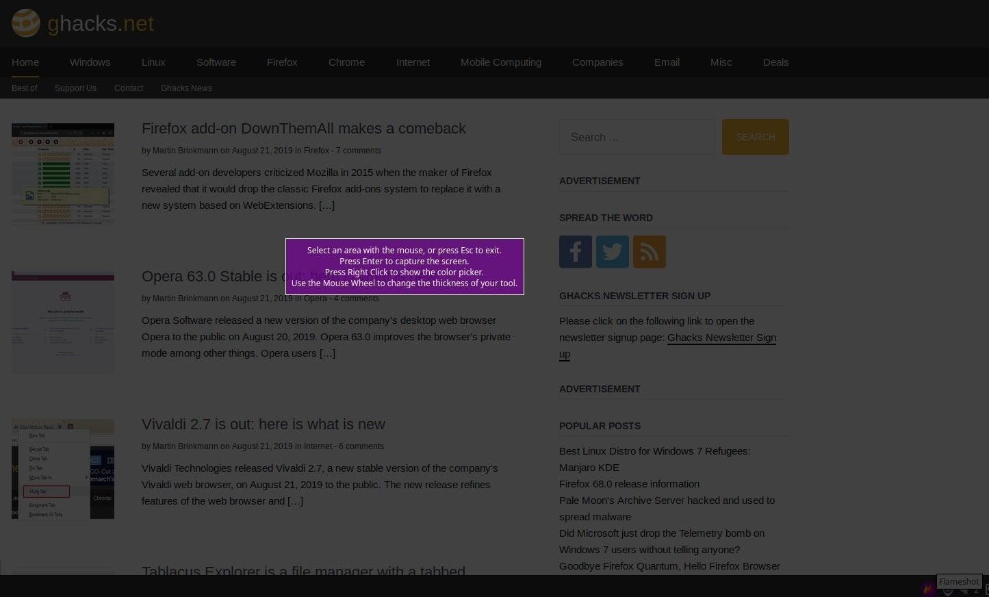 Flameshot es una brillante herramienta de captura de pantalla para Linux