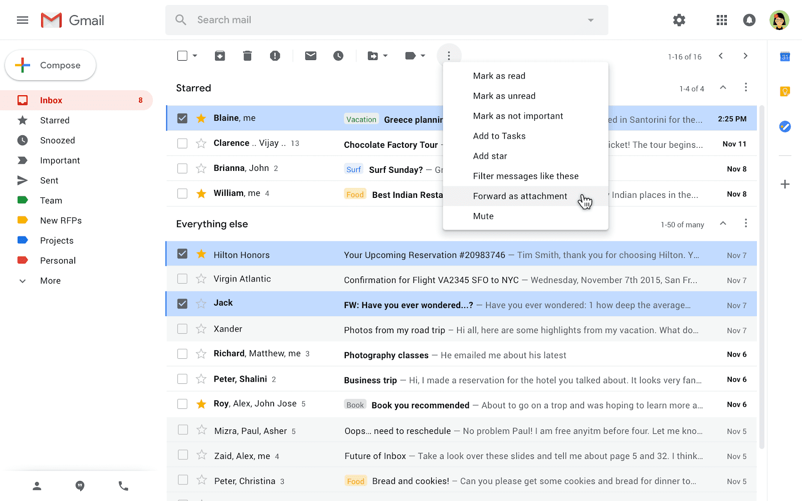 Gmail gets a new forward emails as attachment option