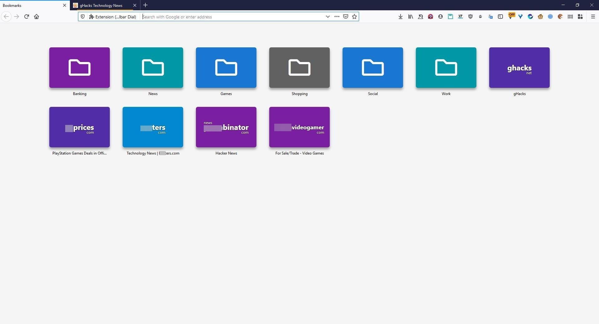 Habilitar la marcación rápida como la de una operadora en Firefox y Chrome con la marcación de la barra de herramientas