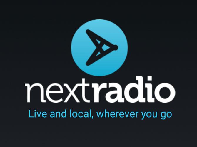 Logotipo de introducción de NextRadio