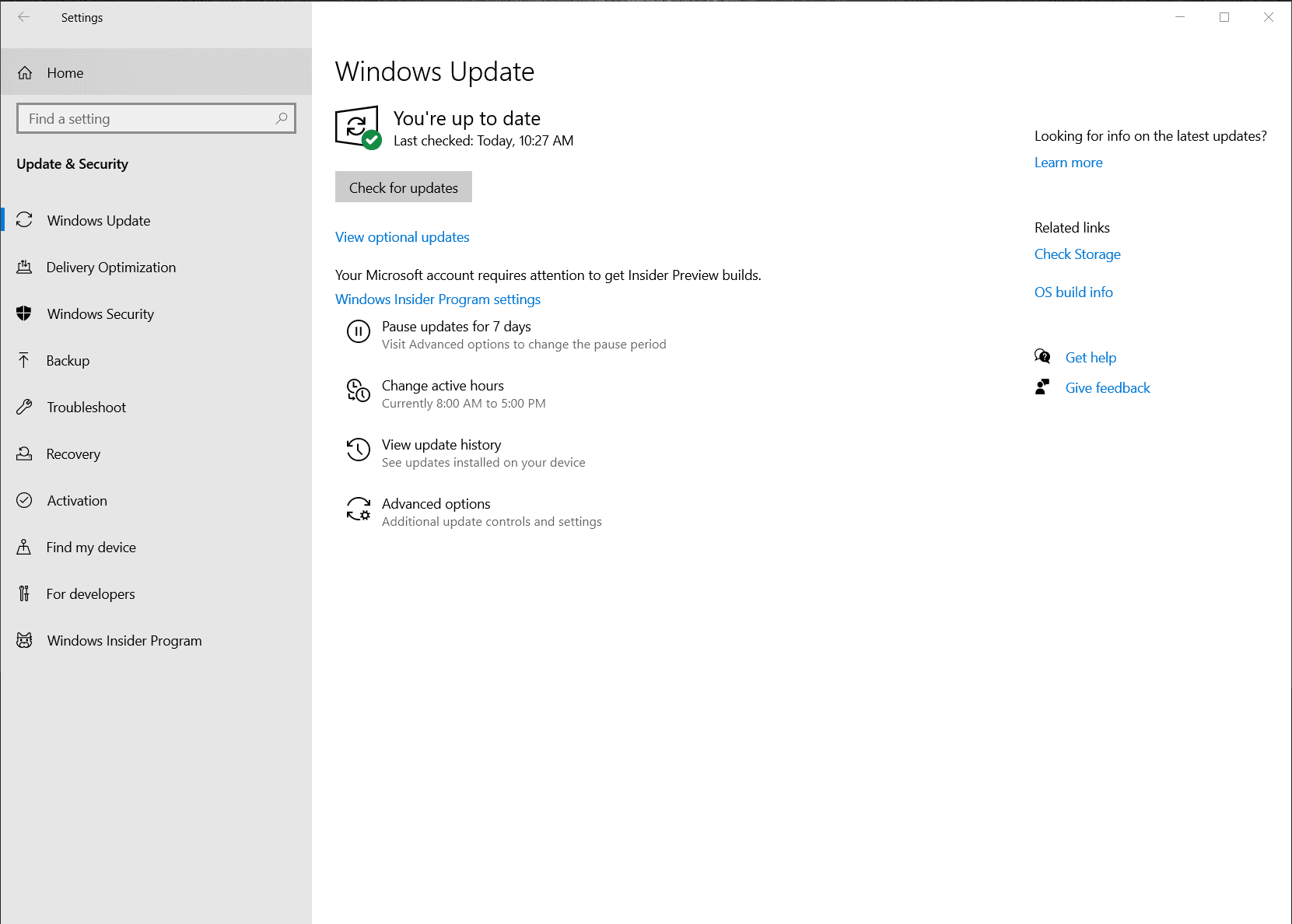 windows 10 actualizaciones de controladores opcionales