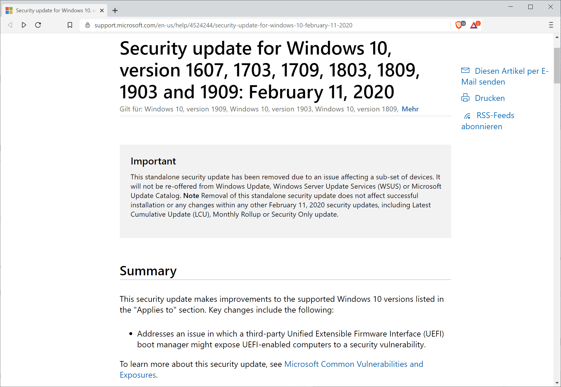 microsoft saca KB4524244 windows 10