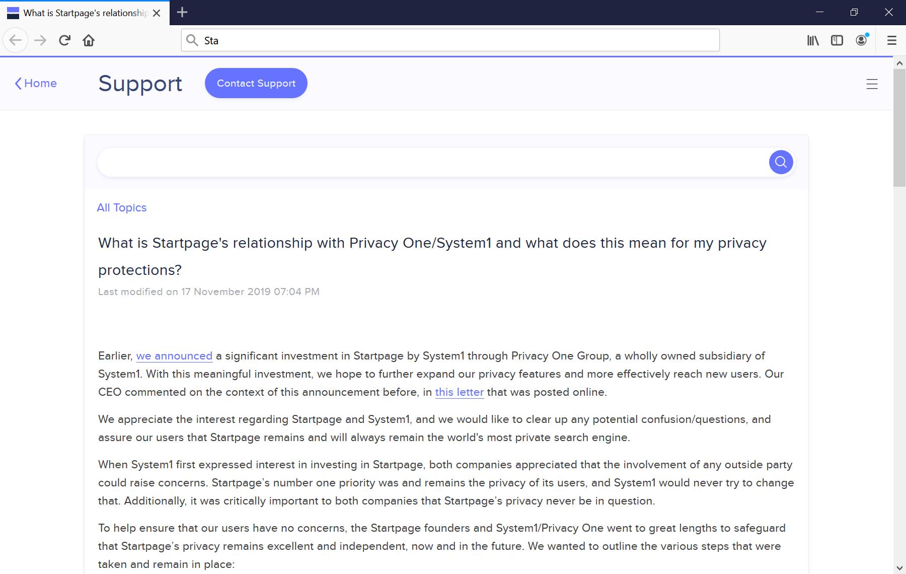 página de inicio sistema1 privacidad un grupo