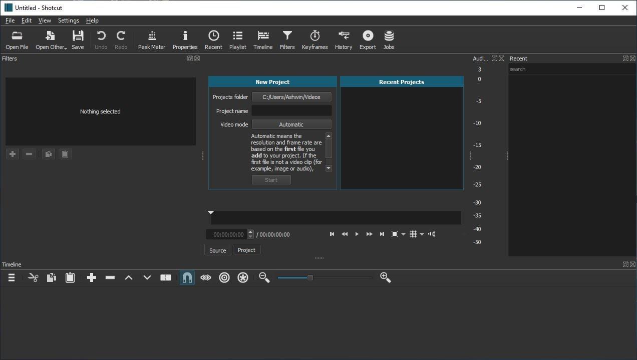 Shotcut es un editor de vídeo de código abierto para Windows, Linux y MacOS.
