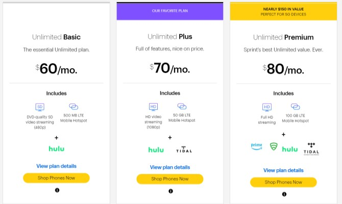 Plan de teléfono celular barato Sprint Unlimited