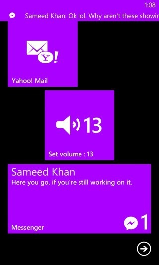 FB Messenger WP8 Azulejo