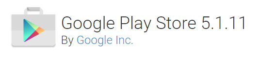 logo de la tienda google play