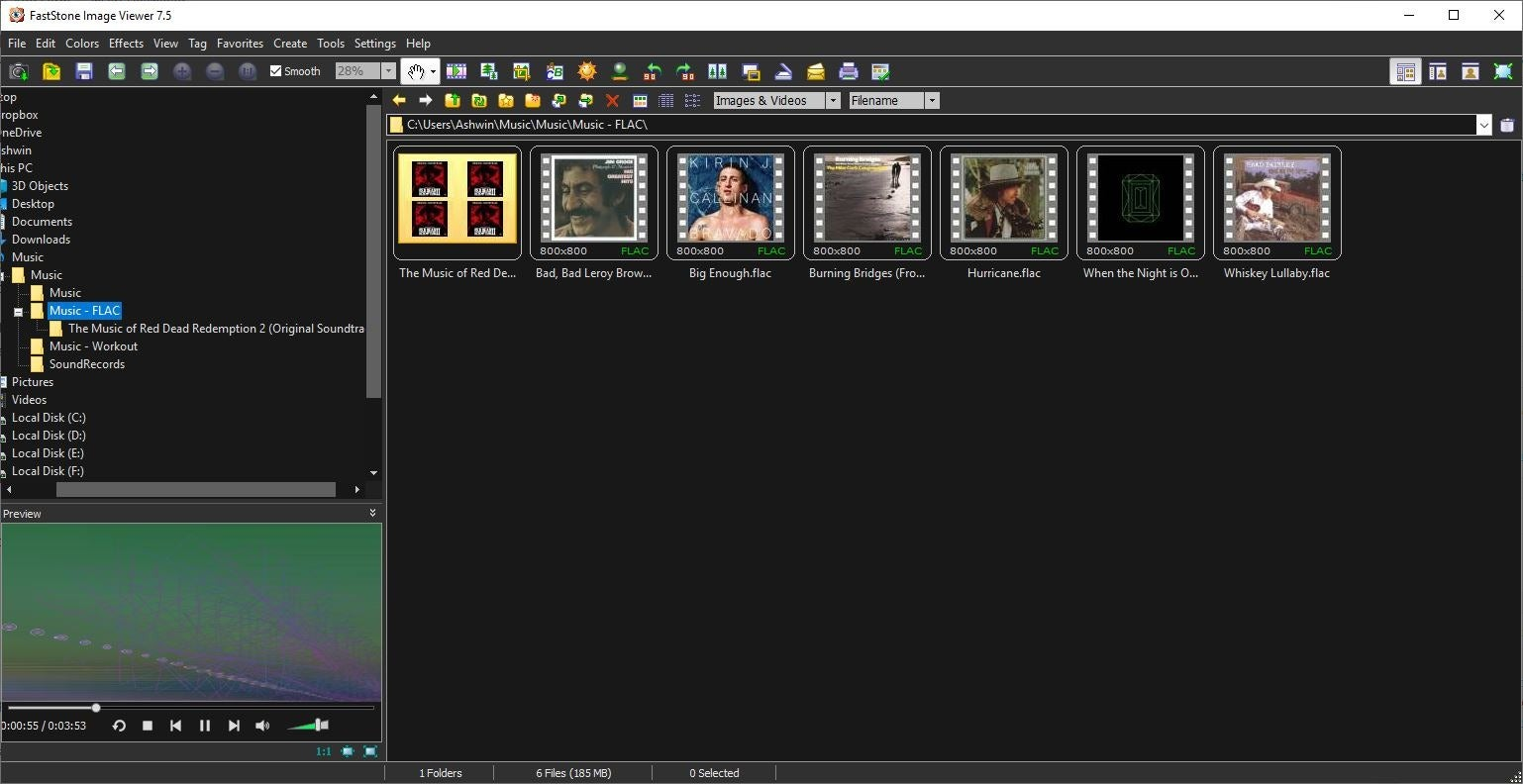 Reproductor de música FastStone Image Viewer