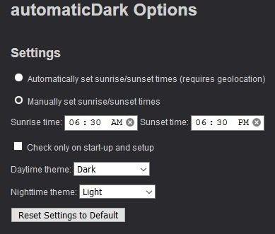 automaticDark dark theme