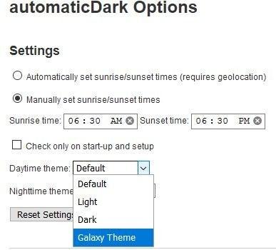 Tema personalizado de automaticDark Firefox