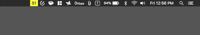 Aplicación de la barra de menú de Air Mac
