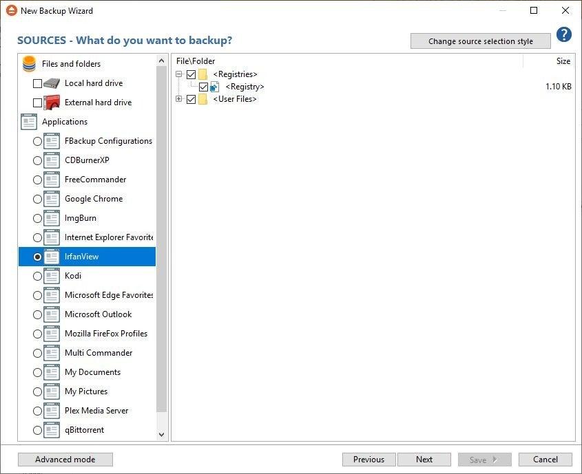 fbackup irfanview plugin backup