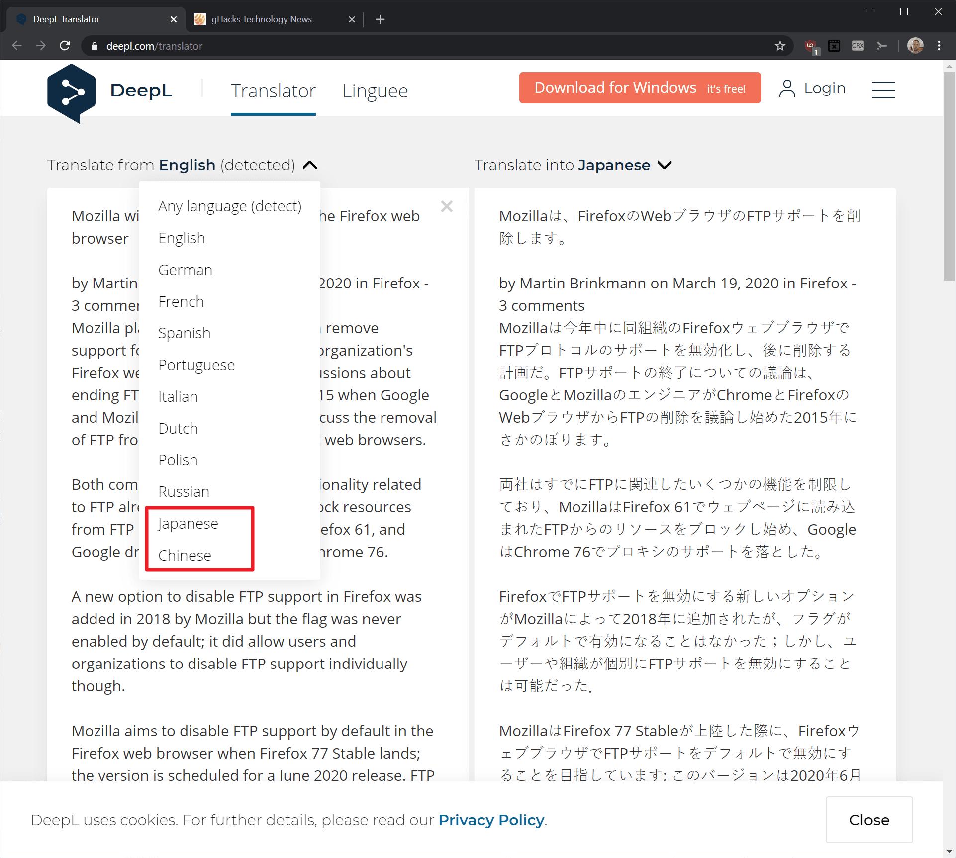 traductor deepl chino japonés