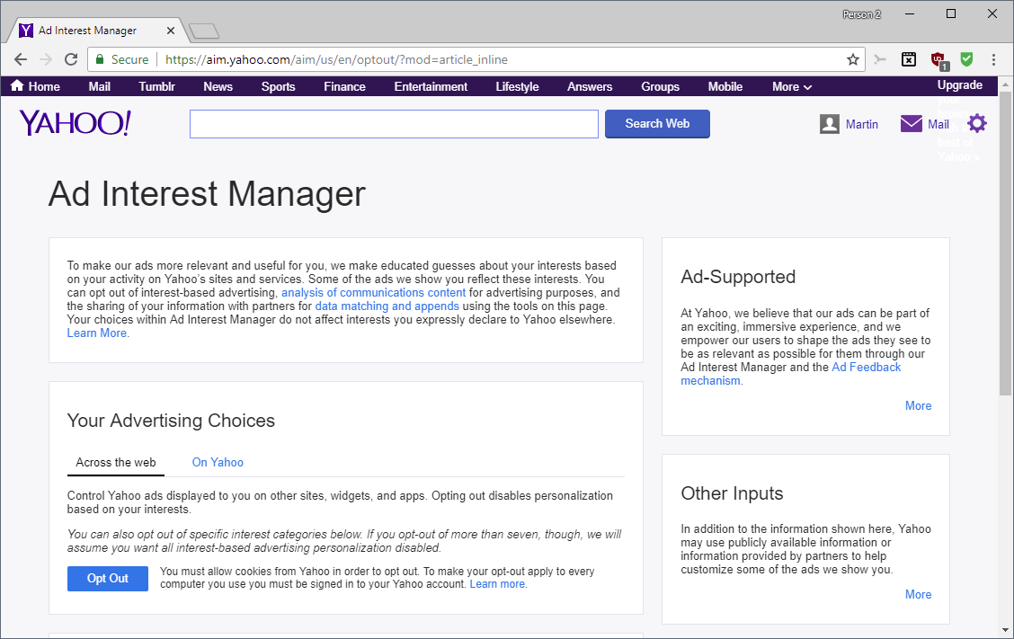 It is time to opt out of Yahoo Mail email scanning