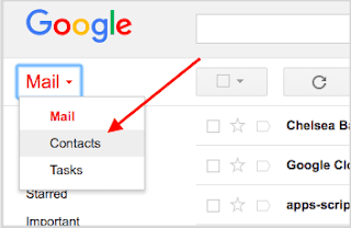 The Gmail Web Interface and Contacts