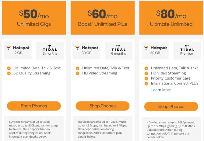 Aumentar los planes de teléfonos móviles baratos
