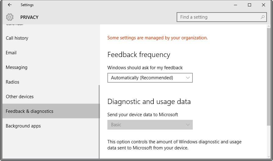 Microsoft will change Diagnostic Data (Telemetry) Naming in Windows 10