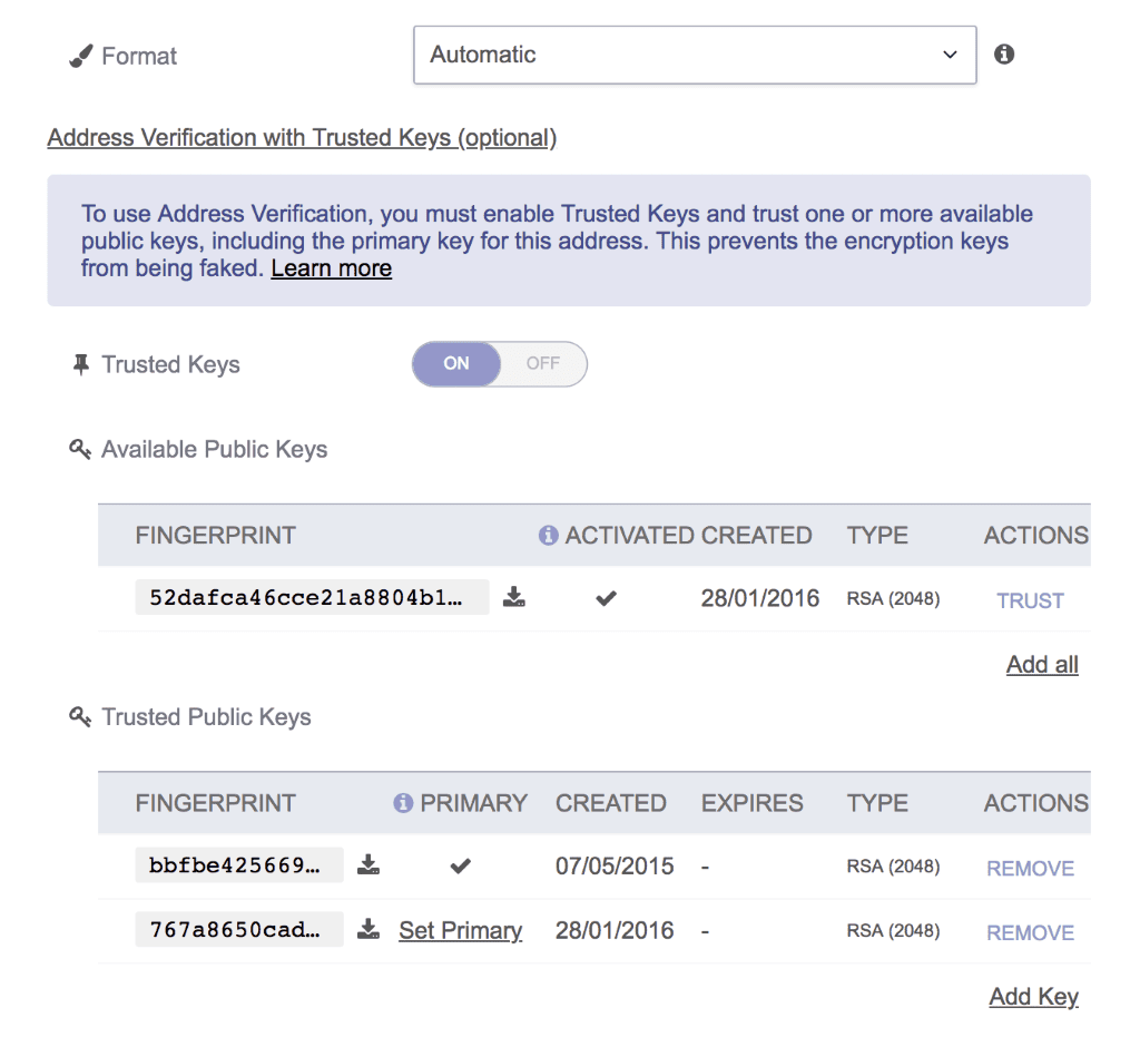 ProtonMail with full PGP Support and Address Verification