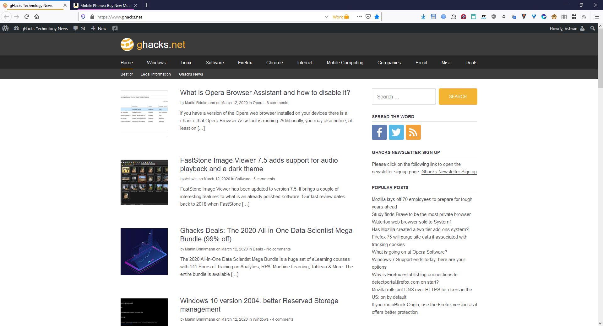 Tema predeterminado de automaticDark Firefox