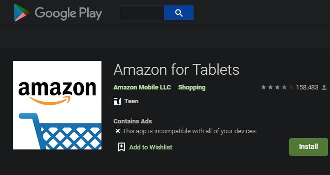 Google Play Incompatible con la aplicación