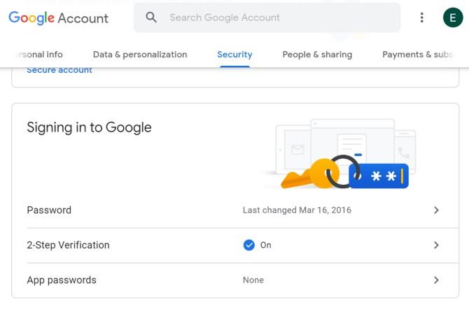 Copia de seguridad de los mensajes de Android Configuración de seguridad de Google