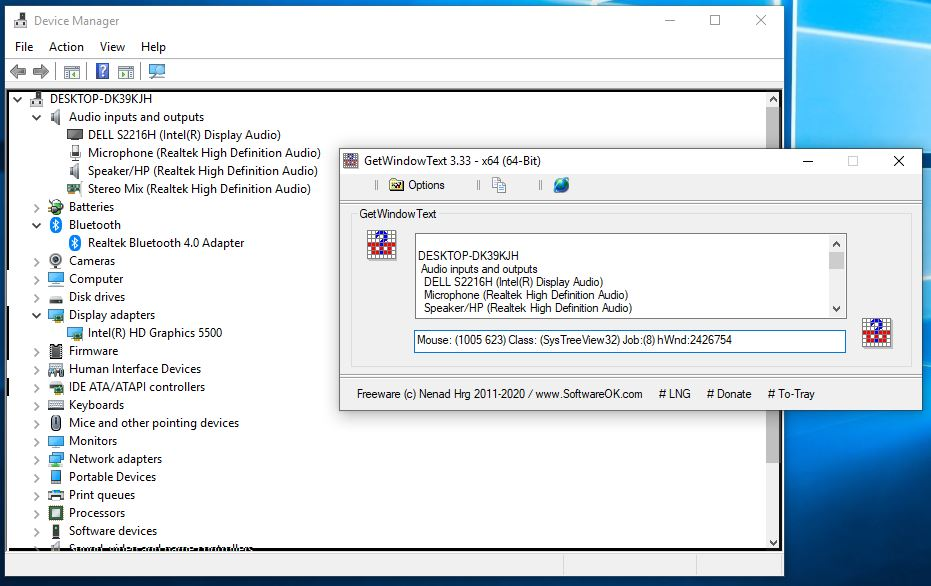 Ejemplo de texto de captura de texto GetWindowText
