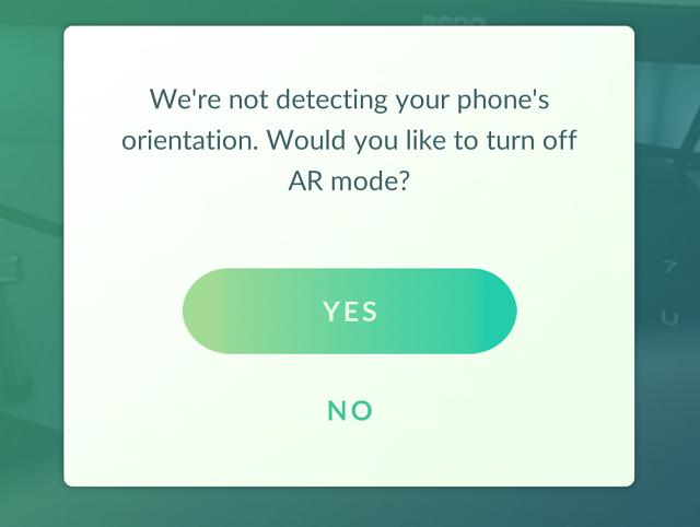 No hay modo AR en Pokemon Go