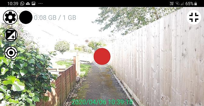 unidad grabadora dashcam app android overlay