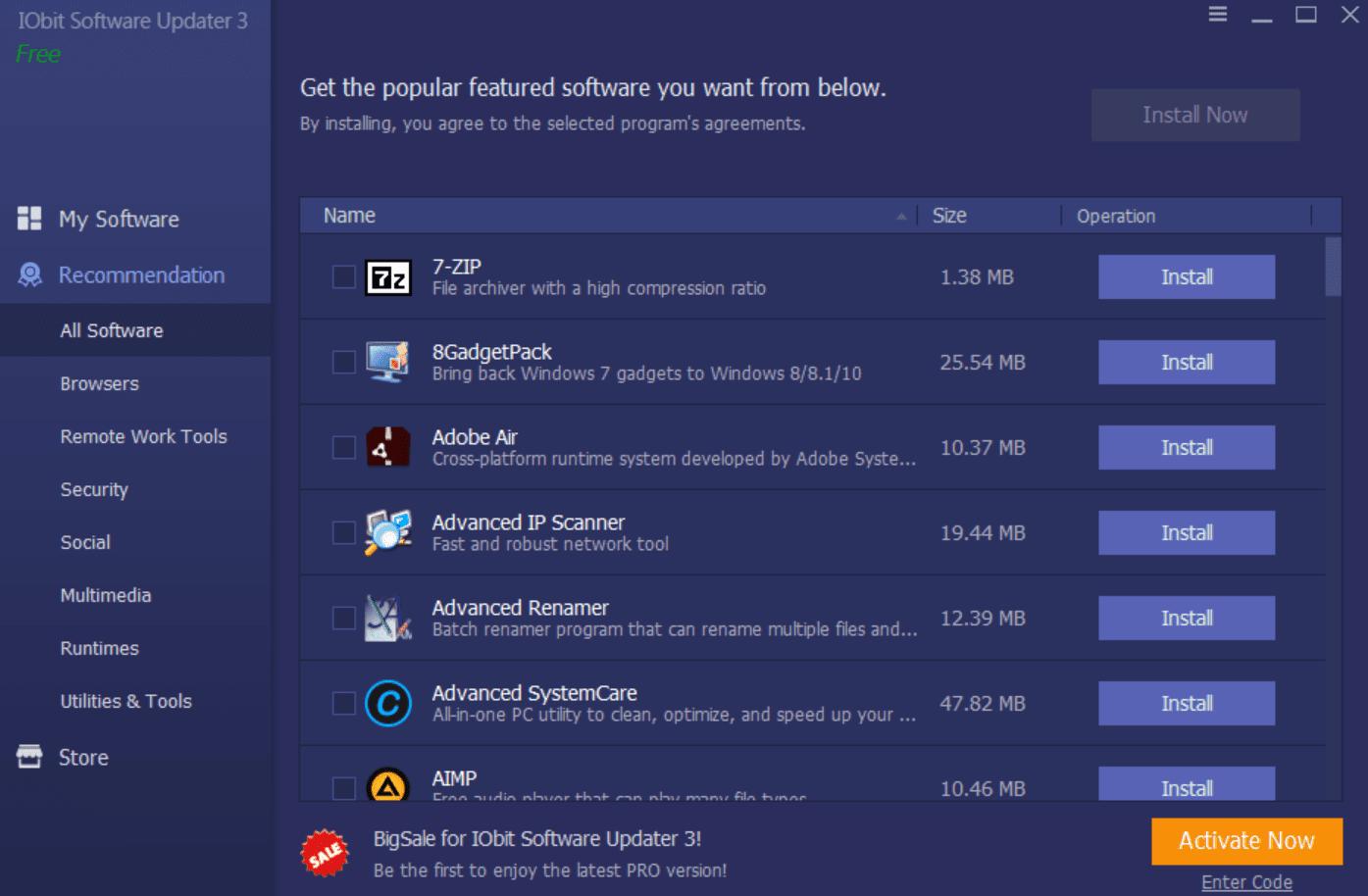 recomendaciones para la actualización del software iobit