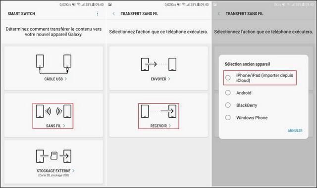 Transfiere los contactos del iPhone a Samsung a través del Interruptor Inteligente de Samsung