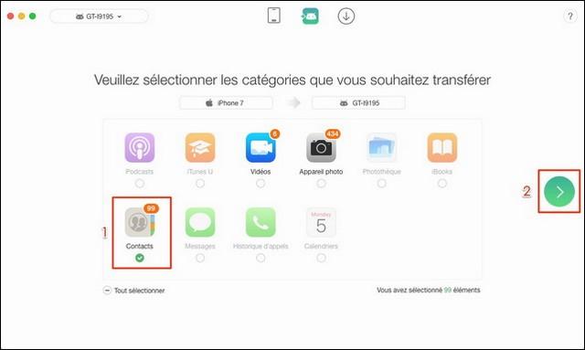 Cómo transferir los contactos del iPhone a Samsung con AnyTrans