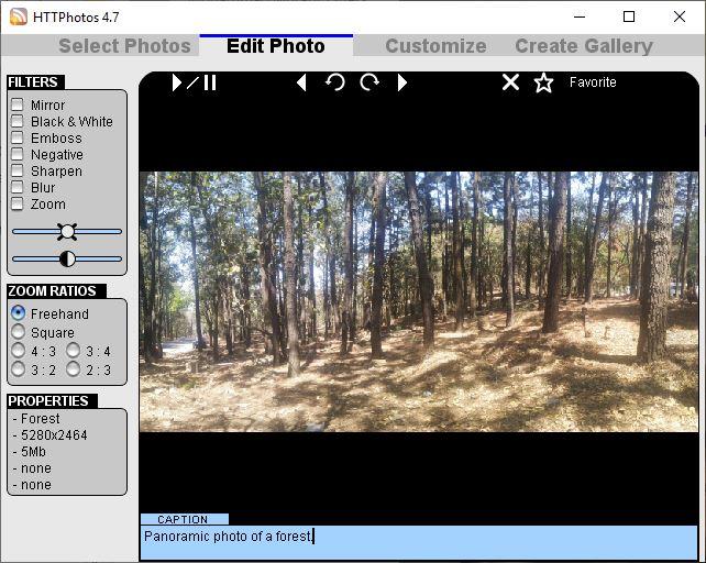 Editor de fotos HTTP
