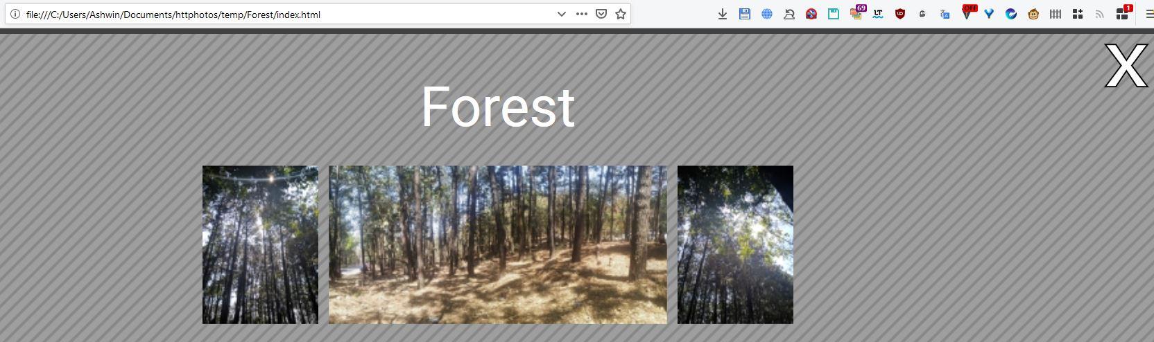 Vista de la galería de fotos HTTPhotos HTML