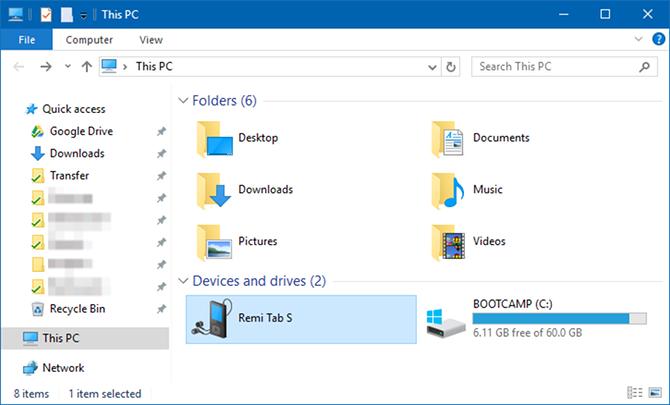 Transferir fotos del dispositivo Samsung a Windows