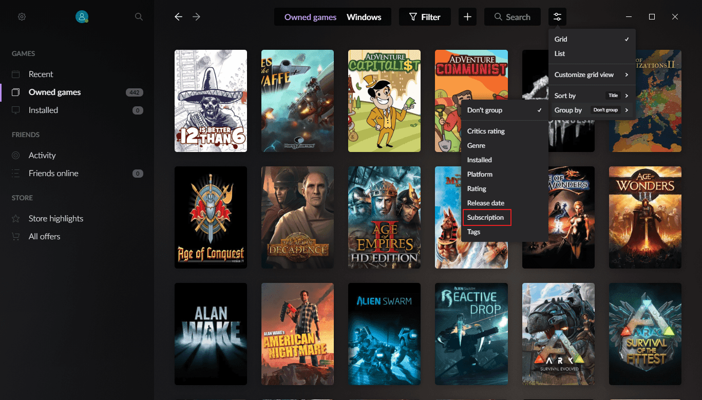 Latest Gog Galaxy Update brings subscription management