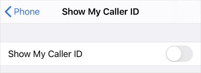 Mostrar la opción Mi Identificador de Llamadas en la Configuración del iPhone