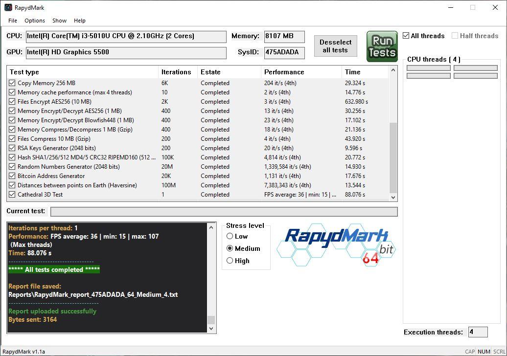 RapydMark presenta los resultados de las pruebas 2