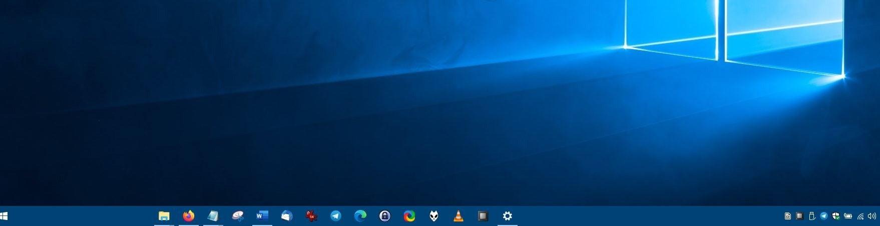 CenterTaskbar - después de desactivar la segunda pantalla