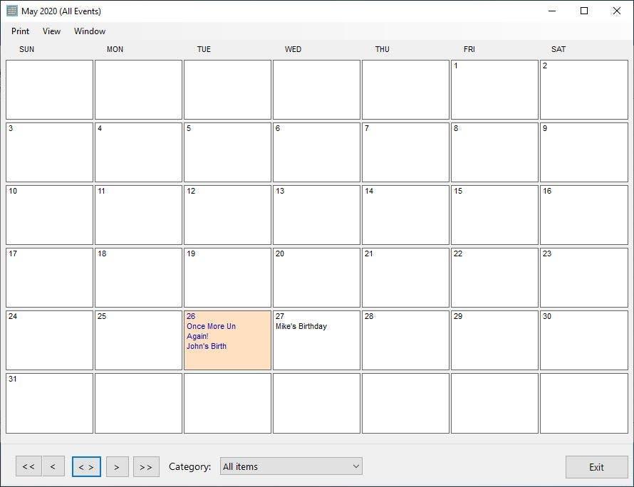 Recuérdame por favor el calendario