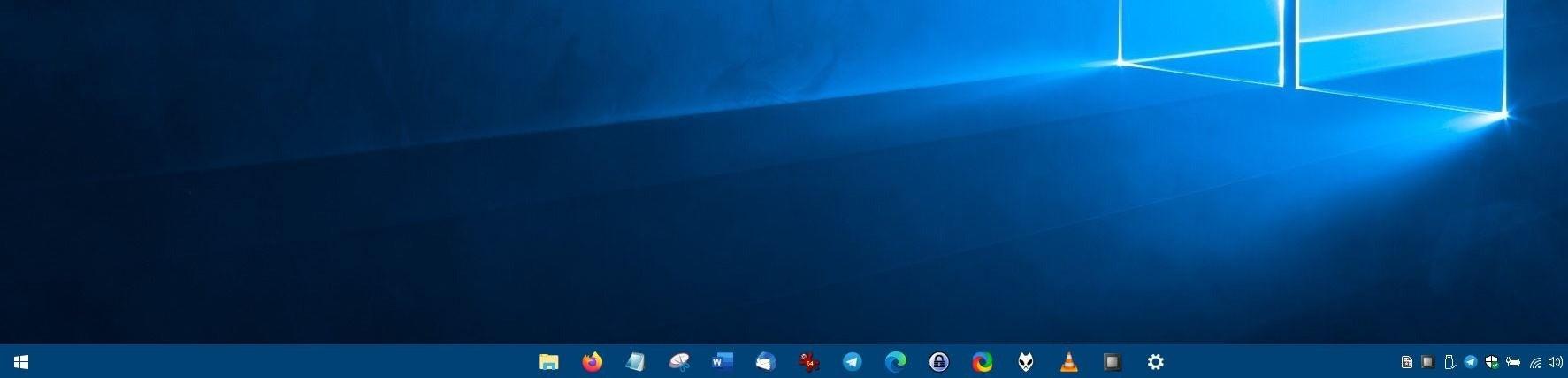 CenterTaskbar es un programa de código abierto y portátil que posiciona dinámicamente los iconos en el centro de la barra de tareas