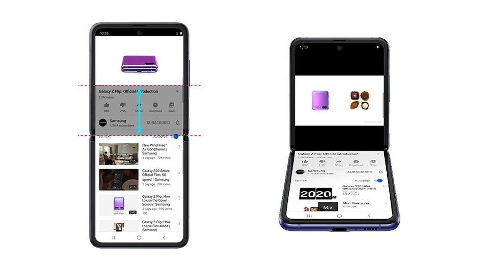 La demostración de Samsung de la nueva característica.