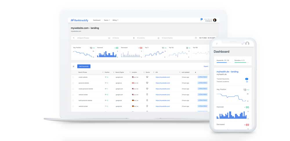 RankTrackify Review - Rank Tracker - Check & Track Your Keyword Rankings