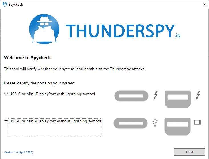 Thunderspy: find out whether your device is vulnerable to (local) Thunderbolt security issues